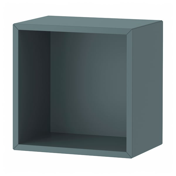 EKET وحدة رف حائطية, رمادي- تركواز, 35x25x35 سم