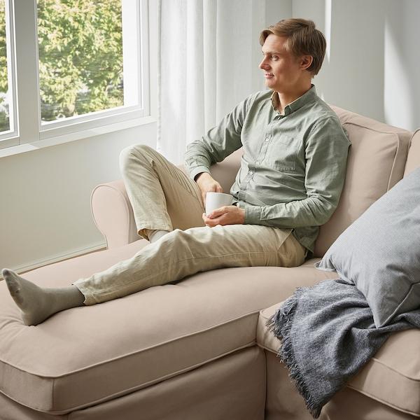 EKTORP 3-seat sofa with chaise longue, Hallarp beige