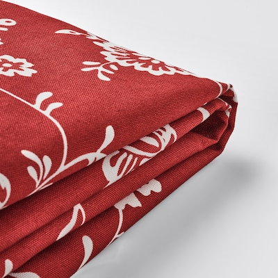 EKTORP Cover for armchair, Virestad red/white