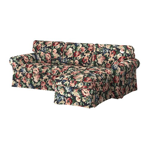 Ektorp 3 Seat Sofa With Chaise Longue Lingbo Multicolour
