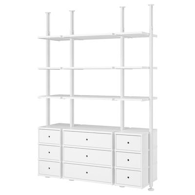 ELVARLI 3 sections, white, 178x51x222-350 cm