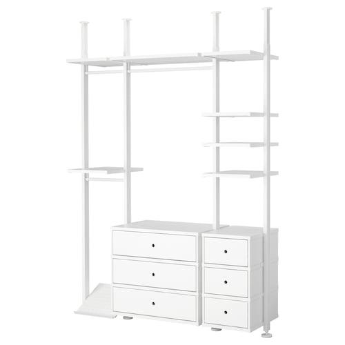 ELVARLI 3 sections white 178.4 cm 50.8 cm 221.5 cm 350.0 cm