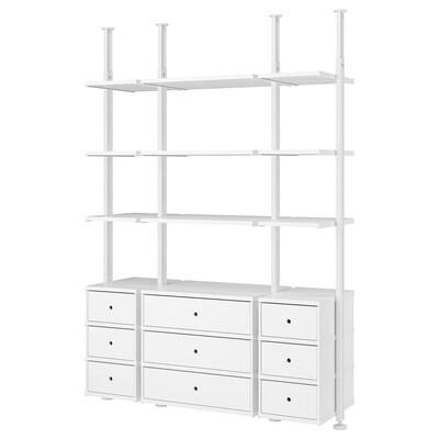 ELVARLI تشكيلة تخزين مفتوح, أبيض, 178x51x222-350 سم