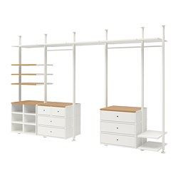 ELVARLI 5 sections, white, bamboo
