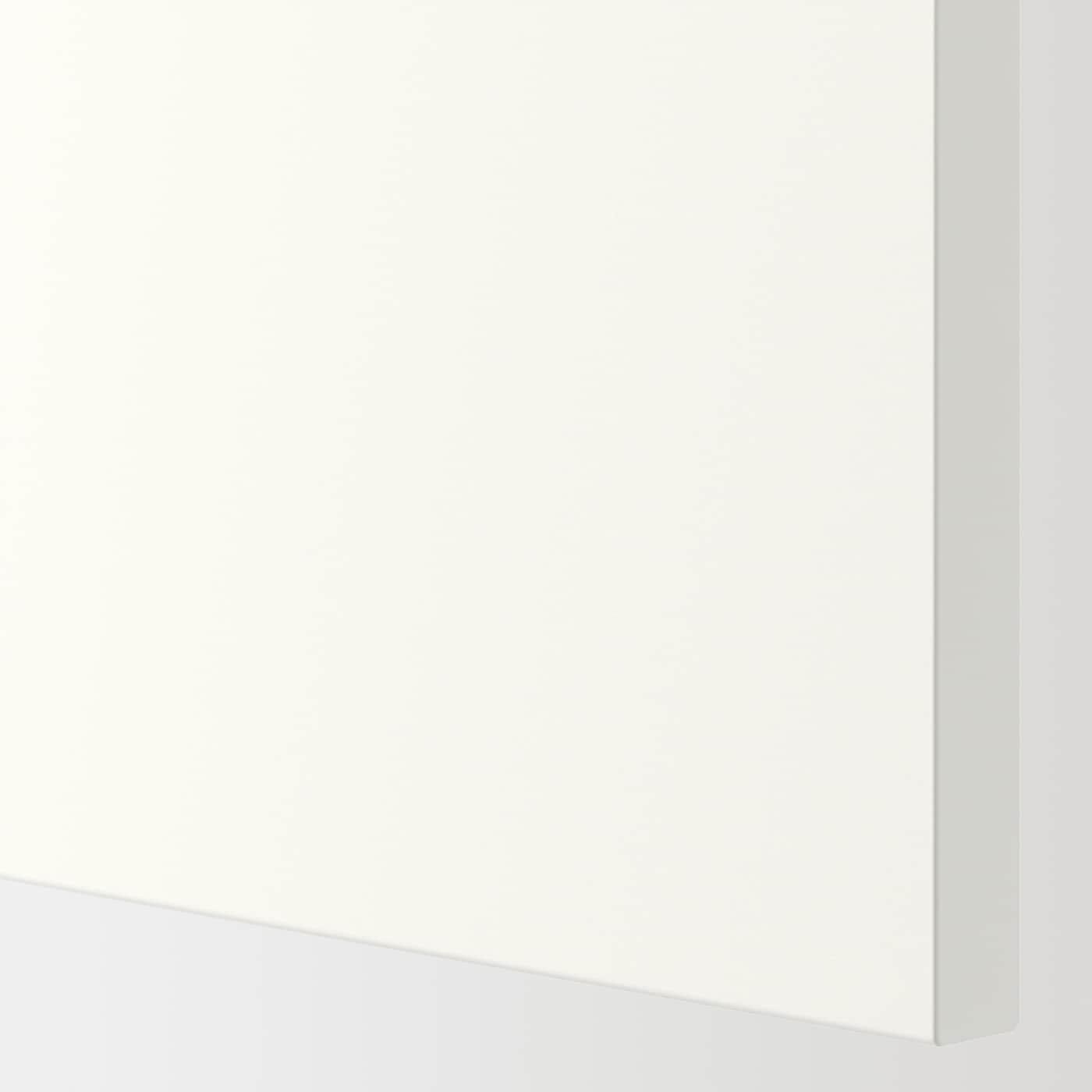 ENHET خزانة علوية مع 4 أرفف/باب, رمادي/أبيض, 30x32x180 سم