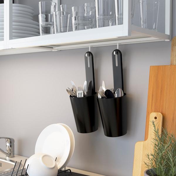 ENHET مطبخ, أبيض/شكل السنديان, 103x63.5x222 سم