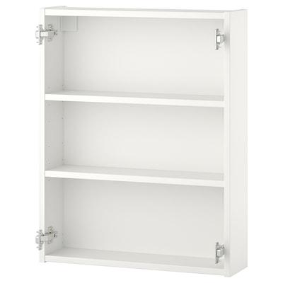 ENHET Wall cb w 2 shelves, white, 60x15x75 cm