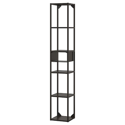 ENHET تشكيلة تخزين حائطية, فحمي, 30x30x180 سم