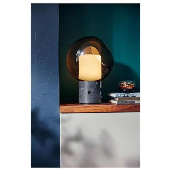 EVEDAL مصباح طاولة, مرمر/رمادي كروي