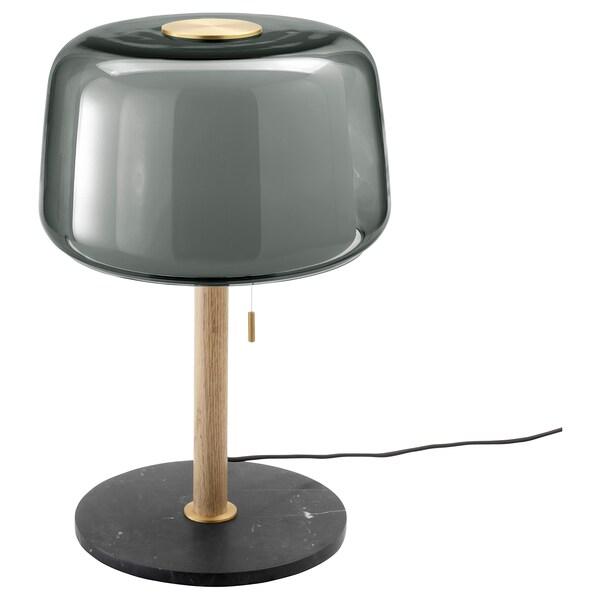 EVEDAL مصباح طاولة, مرمر/رمادي