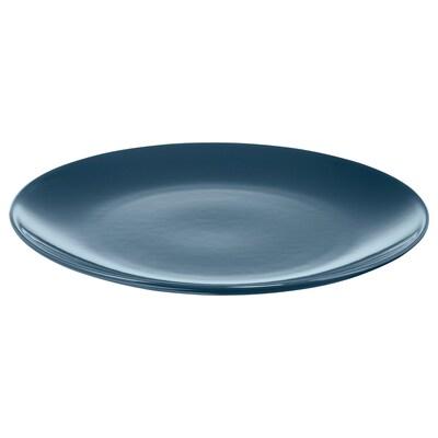 FÄRGRIK Plate, dark turquoise, 27 cm