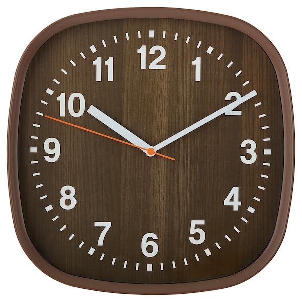 FJÄRR Wall clock, dark brown, 30x30 cm