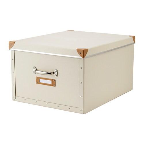 Fj lla box with lid off white ikea - Ikea rangement cellier ...