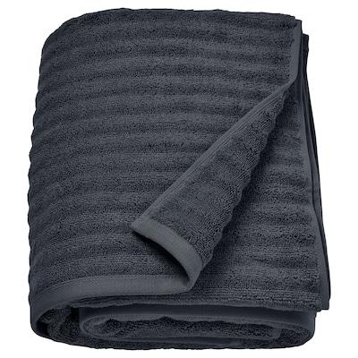 FLODALEN Bath sheet, dark grey, 100x150 cm