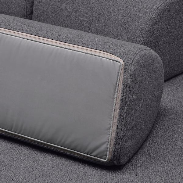 FLOTTEBO غطاء كنبة-سرير, Gunnared رمادي معتدل, 120 سم