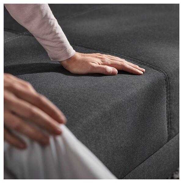 FLOTTEBO Sofa-bed, Vissle dark grey, 120 cm