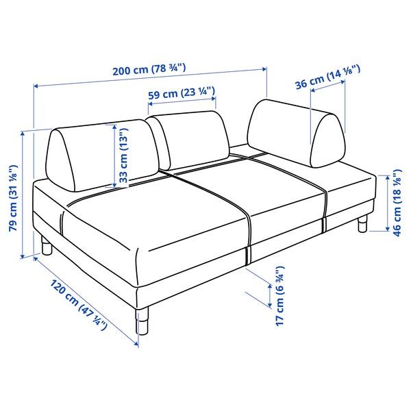 FLOTTEBO كنبة-سرير, Vissle رمادي غامق, 120 سم