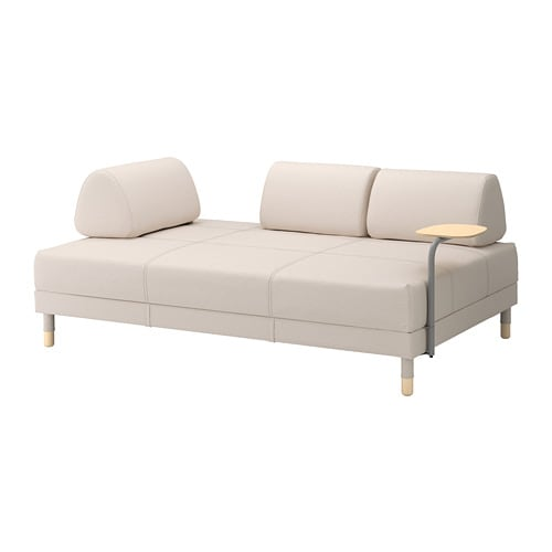Flottebo sofa bed with side table lofallet beige ikea for Sofa bed qatar living