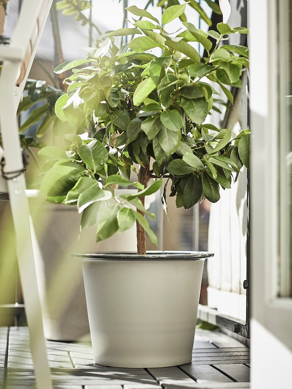 FNITTRIG Plant pot, in/outdoor blue/grey, 24 cm