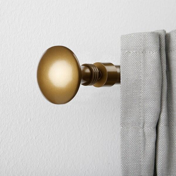 FÖRBINDA Finials, 1 pair, brass-colour