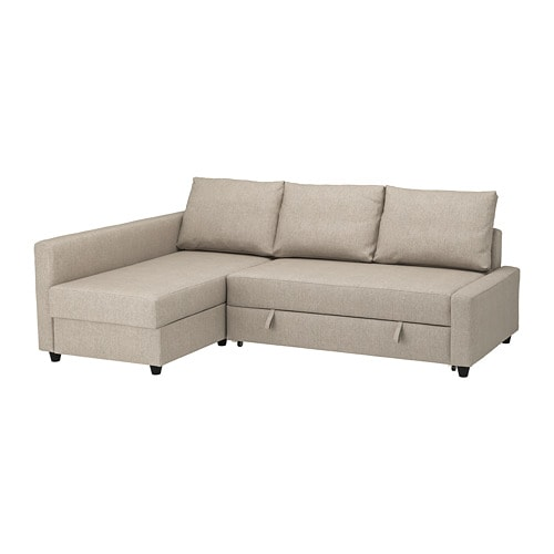 Friheten Corner Sofa Bed With Storage Hyllie Beige Ikea
