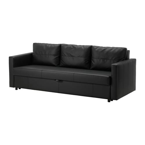 friheten three seat sofa bed bomstad black ikea