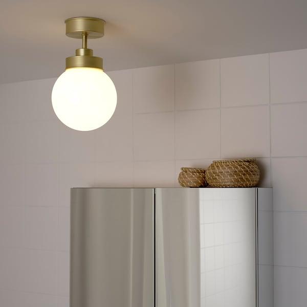 FRIHULT مصباح سقف, لون نحاسي