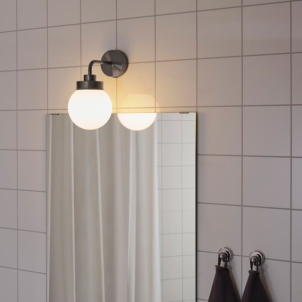 FRIHULT Wall lamp, black