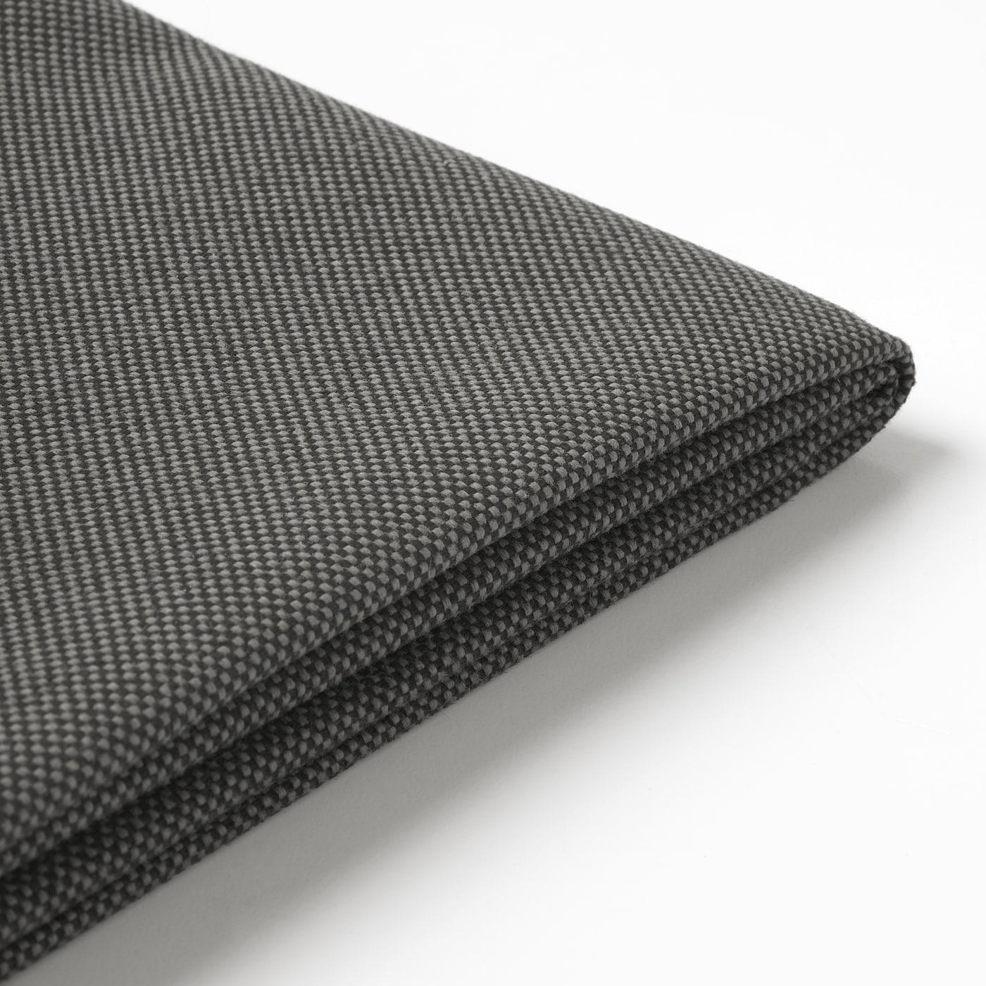 FRÖSÖN Cover for back cushion, outdoor dark grey, 62x44 cm