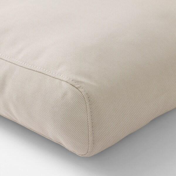 FRÖSÖN/DUVHOLMEN Back cushion, outdoor, beige, 62x44 cm