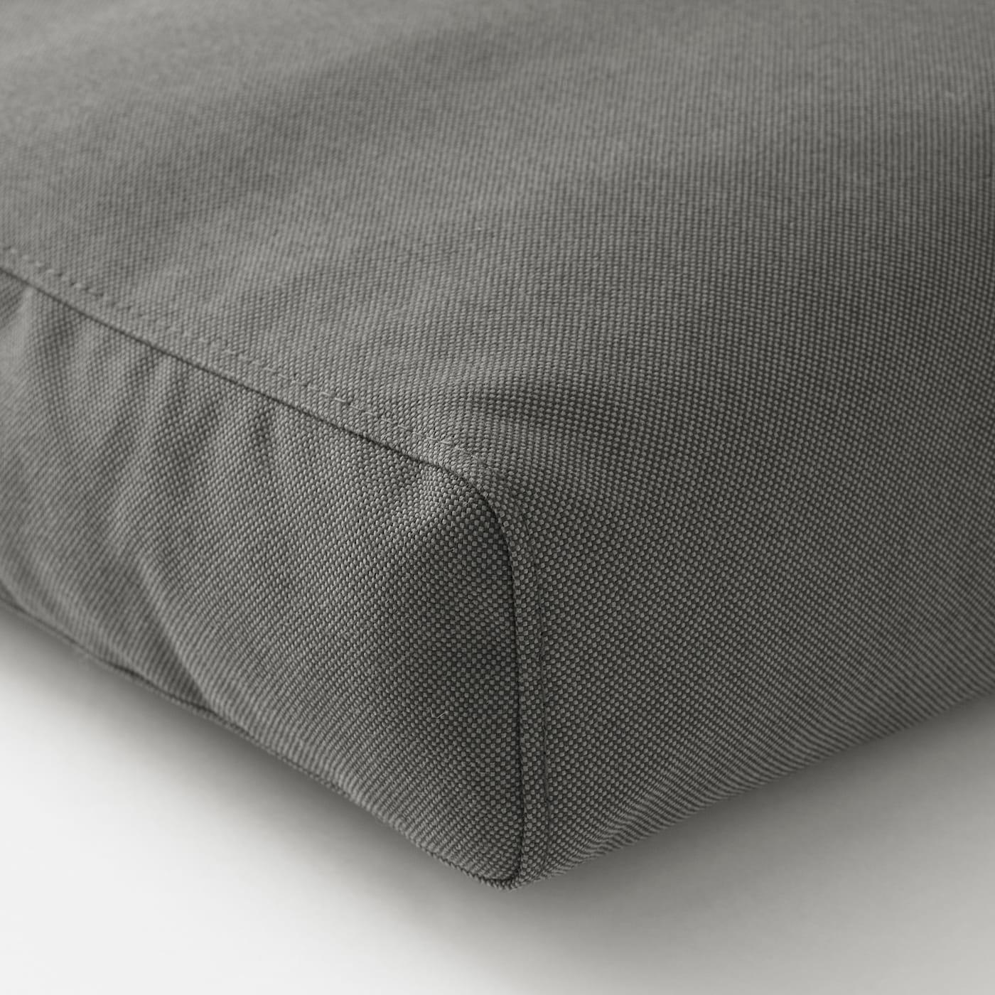 FRÖSÖN/DUVHOLMEN وسادة ظهر، خارجية, رمادي غامق, 62x44 سم