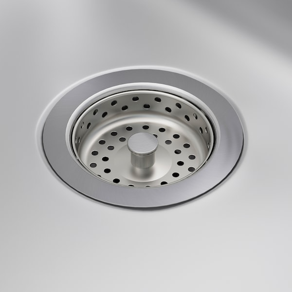 FYNDIG Inset sink, 1 bowl with drainboard, stainless steel, 70x50 cm