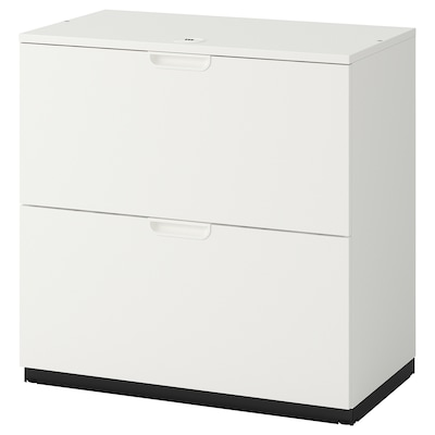 GALANT Drawer unit with drop-file storage, white, 80x80 cm