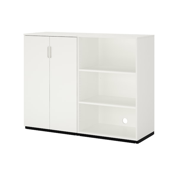 GALANT Storage combination, white, 160x120 cm