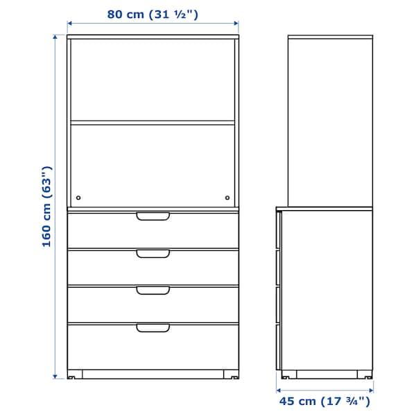 GALANT تشكيلة تخزين مع أدراج, أبيض, 80x160 سم