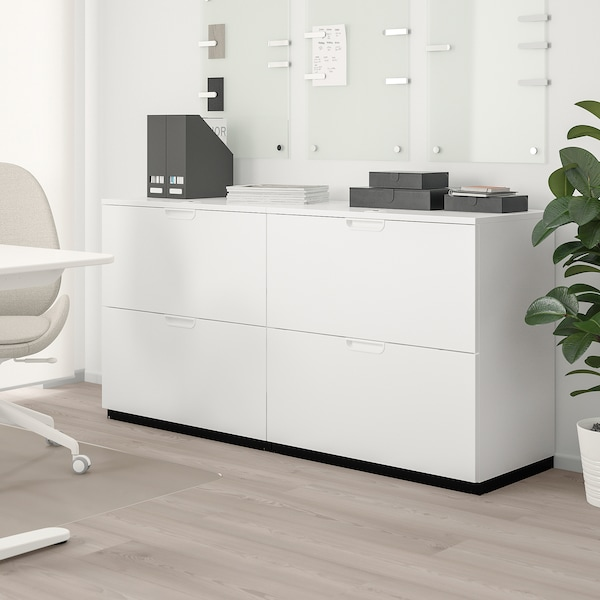 GALANT Storage combination with filing, white, 160x80 cm