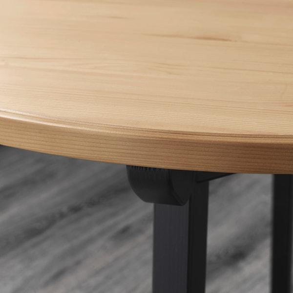 GAMLARED / STEFAN طاولة وكرسيان, طلاء تعتيق خفيف/بني-أسود, 85 سم