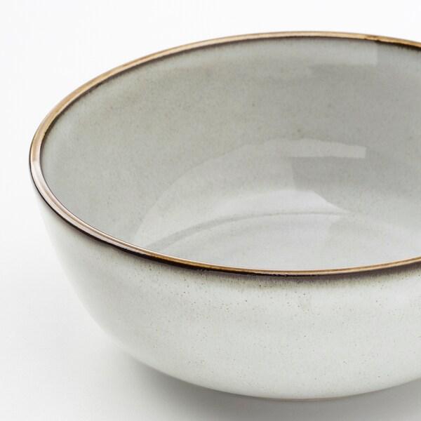 GLADELIG bowl grey 14 cm 4 pack