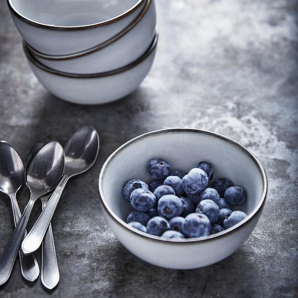 GLADELIG Bowl, grey, 11 cm