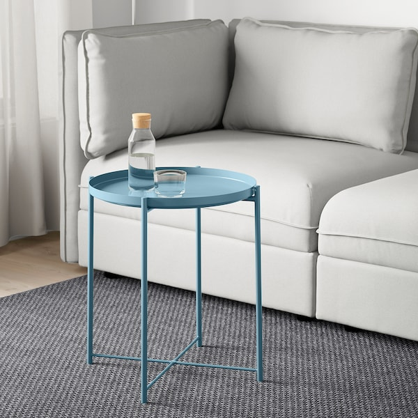 GLADOM Tray table, blue, 45x53 cm