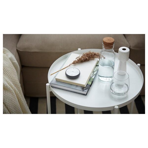 GLADOM طاولة بصينية, أبيض, 45x53 سم
