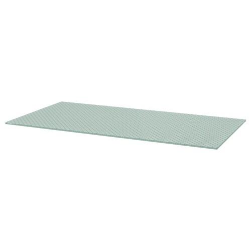 GLASHOLM table top glass/honeycomb patterned 148 cm 73 cm 1.0 cm 50 kg