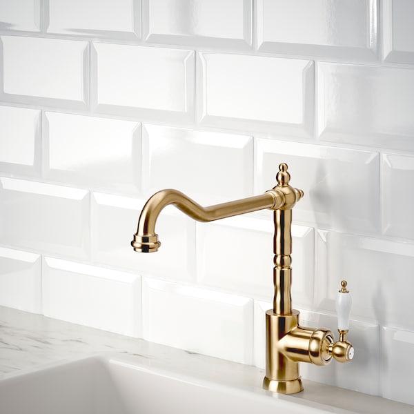 GLITTRAN Kitchen mixer tap, brass-colour