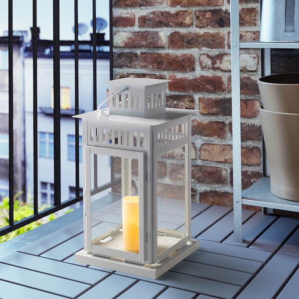 GODAFTON LED block candle, in/outdoor, battery-operated/natural, 14 cm