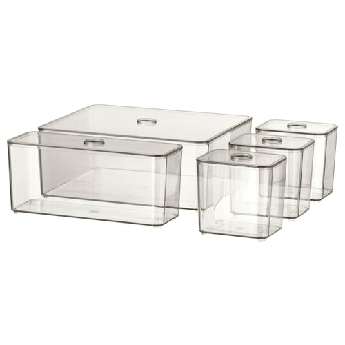 IKEA GODMORGON Box with lid, set of 5