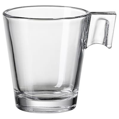 GOTTFINNANDE كوب إسبريسو, زجاج شفاف, 8 سل
