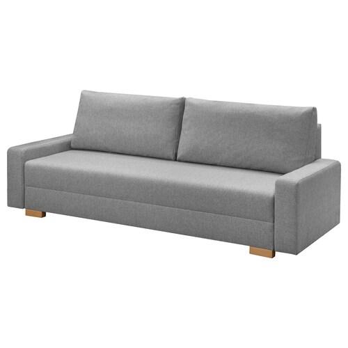 GRÄLVIKEN 3-seat sofa-bed grey 225 cm 86 cm 74 cm 48 cm 43 cm 140 cm 195 cm