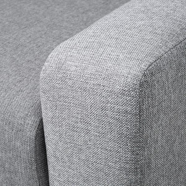 GRÄLVIKEN 3-seat sofa-bed, grey