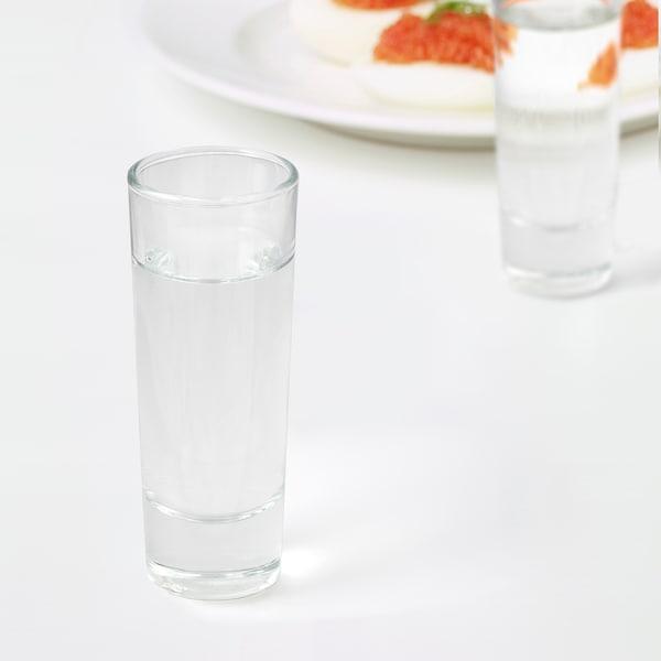 GRÅSEJ snaps glass clear glass 10 cm 5 cl 6 pack