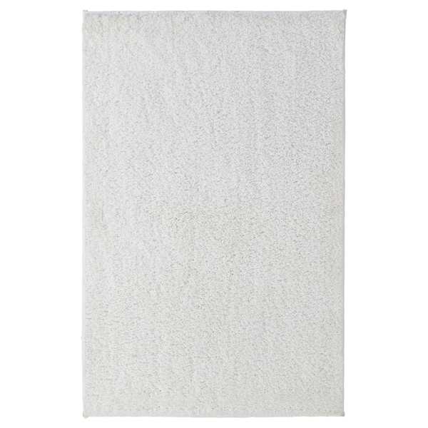 GRÅSJÖN Bath mat, white, 65x100 cm